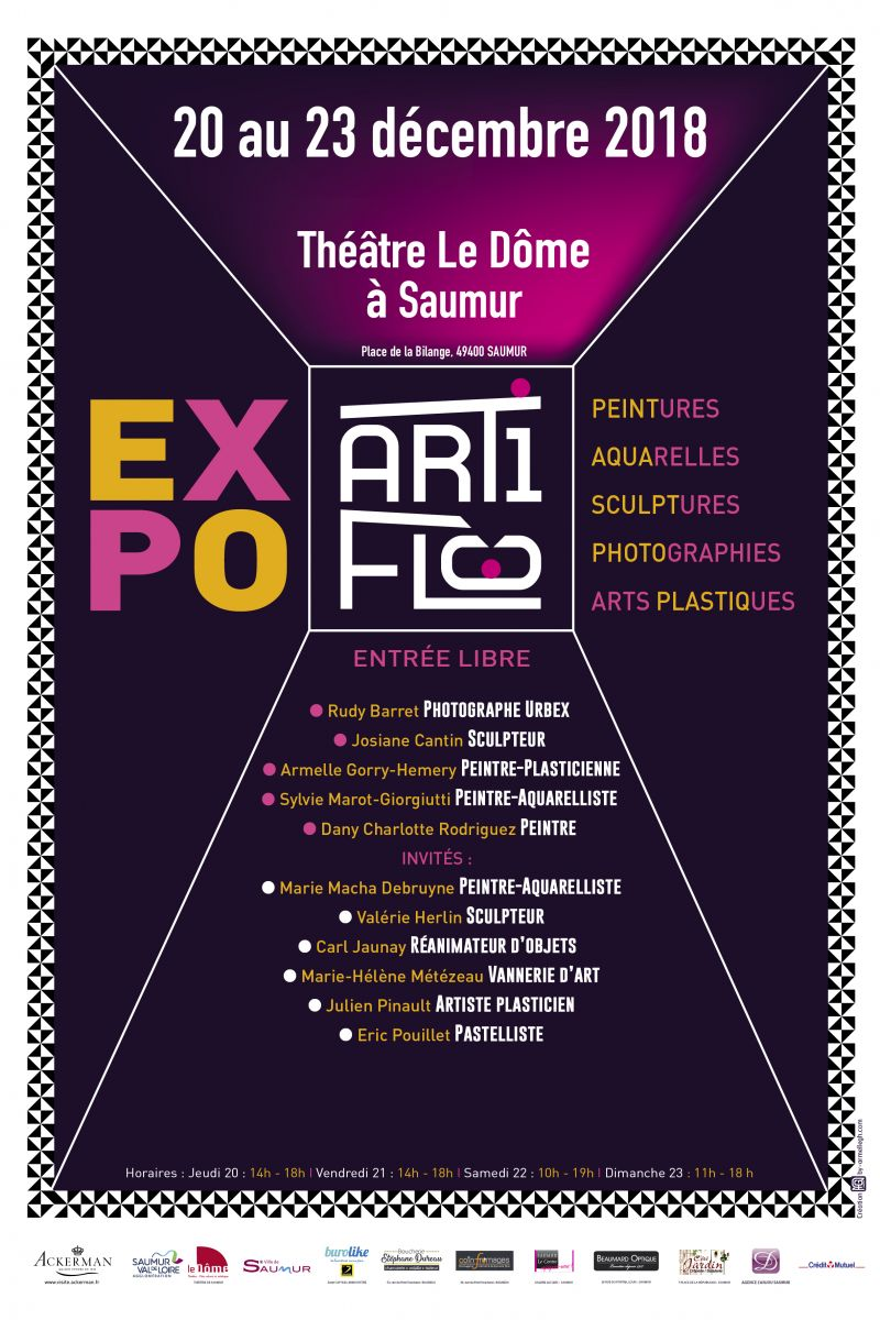Affiche expo d'art contemporain - 2018