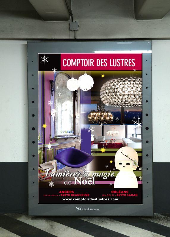 campagne de communication pour comptoir des lustres angers. Black Bedroom Furniture Sets. Home Design Ideas